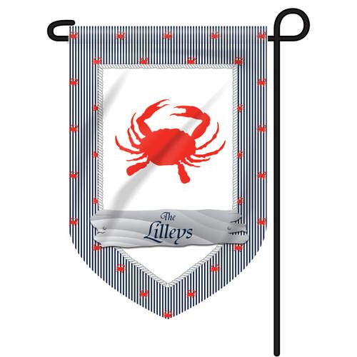 Polkadot Crab Personalized Garden Flag