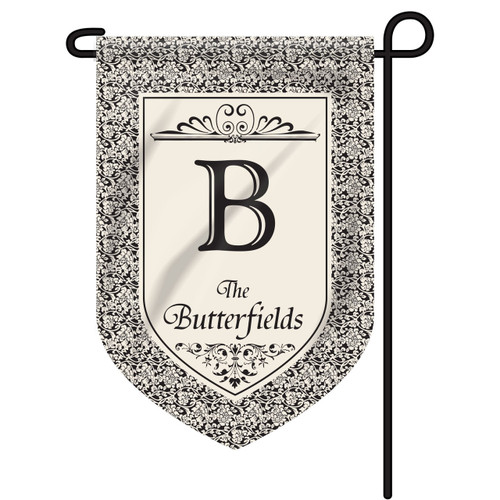 Floral Personalized Garden Flag