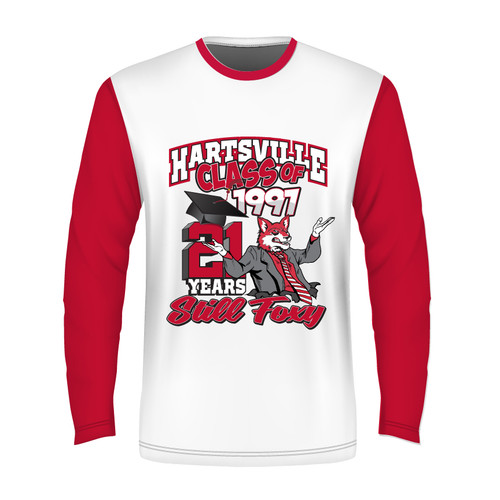 2018 Long Sleeve Sublimated - White