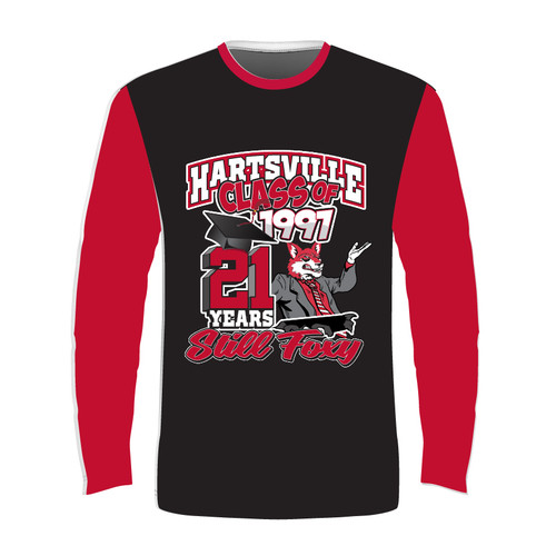2018 Long Sleeve Sublimated - Black