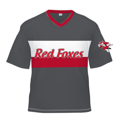 Short Sleeve Sublimated Jersey - Red Foxes Grey