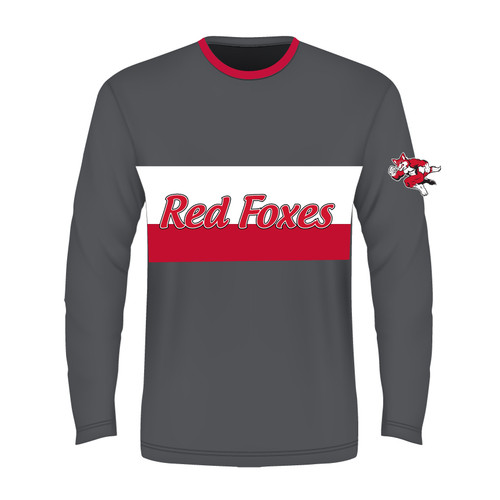Long Sleeve Sublimated - Red Foxes Grey