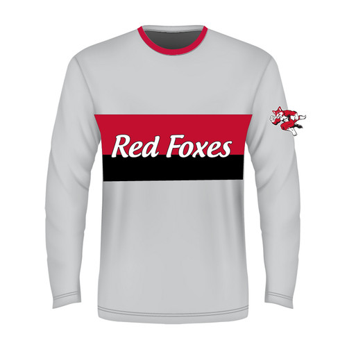 Long Sleeve Sublimated - Red Foxes White