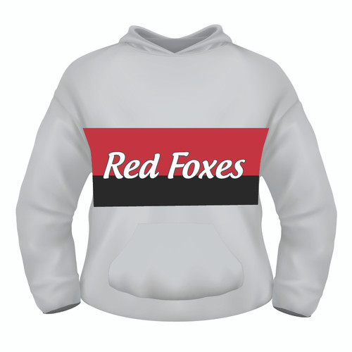 Sublimated Hoodie - Red Foxes White