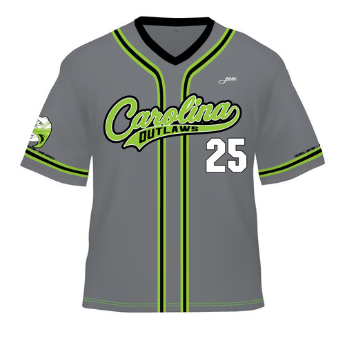 Carolina Outlaws Replica Jersey - Grey