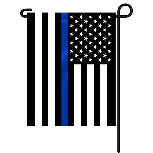 Thin Blue Line Garden Flag