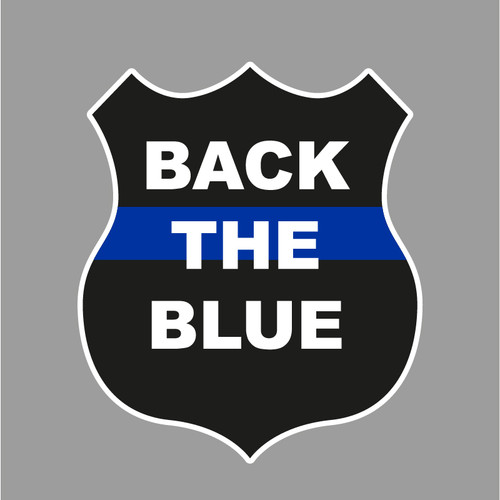 """Thin Blue Line 6"""" Decal"""