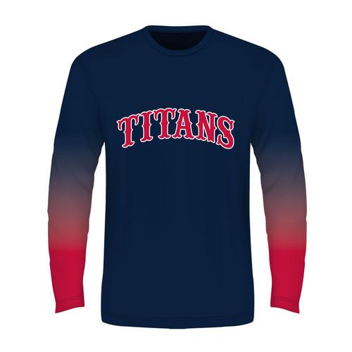 Carolina Titans Long Sleeve T - Navy - Sublimated