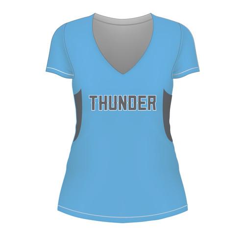 Carolina Thunder Ladies Short Sleeve - Blue