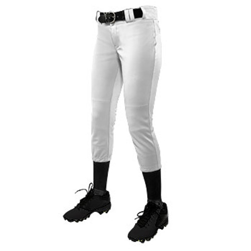 Ladies and Girls White Softball Pants