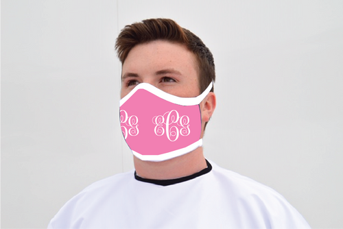 Monogrammed Heavyweight Polyester Mask - Reusable - Washable