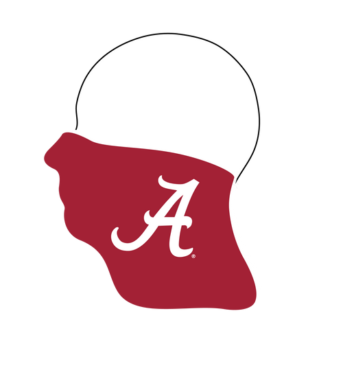 Alabama Crimson Tide Neck Gaiter- Reusable - Washable