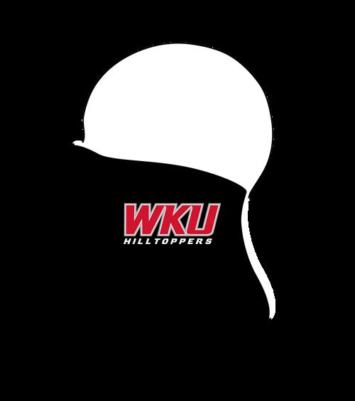 Western Kentucky Hilltoppers Neck Gaiter- Black WKU Logo- Reusable - Washable