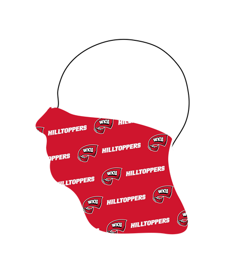 Western Kentucky Hilltoppers Neck Gaiter- Tiled Logo- Reusable - Washable