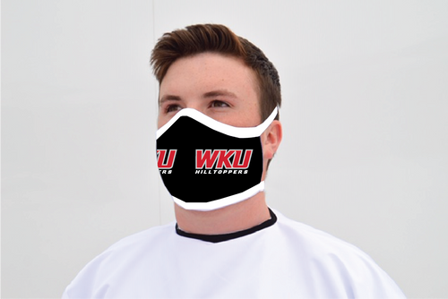 Western Kentucky Hilltopper Face Mask - Black WKU Logo - Reusable - Washable