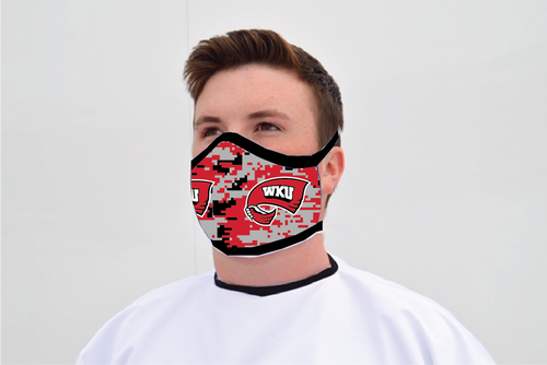 Western Kentucky Hilltopper Face Mask - Digi Camo Logo - Reusable - Washable