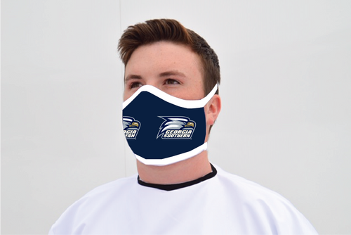 Ga Southern Face Mask - Standard Logo - Reusable - Washable