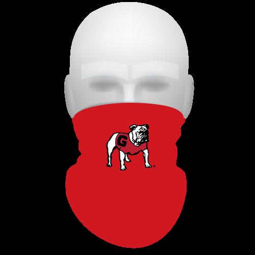 UGA Neck Gaiter- Standing Dog- Reusable - Washable