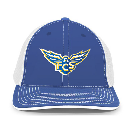 FCS - Flexfit Trucker Hat_Royal_White