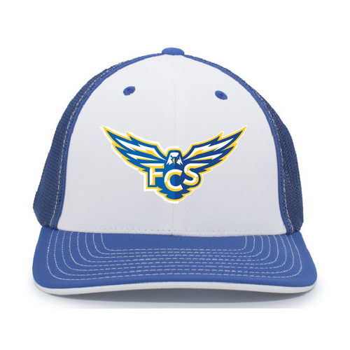 FCS - Flexfit Trucker Hat _White with Royal