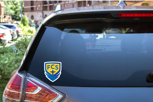 FCS Academic Shield Logo Car Decal