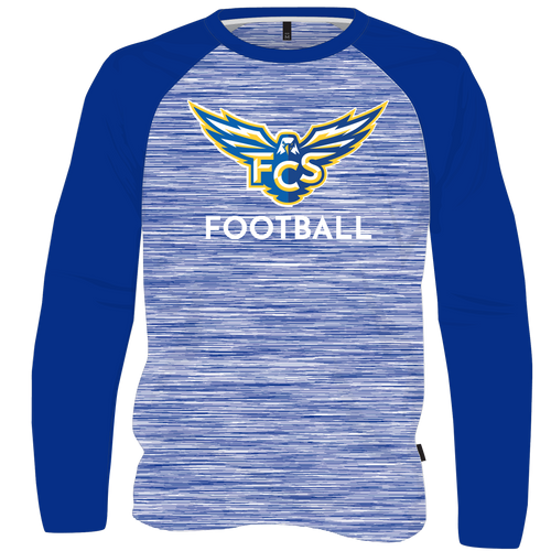 FCS Performance Longsleeve T Shirt - Raglan Style with Alternate Color Sleeve