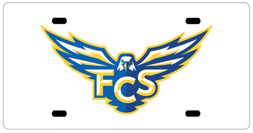 FCS License Plate - Athletic Logo
