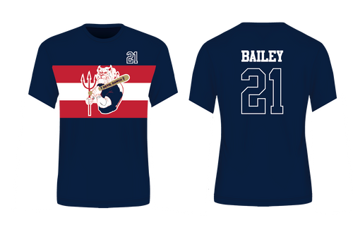 Devil Dawgs Baseball Sublimated Navy Sublimated T