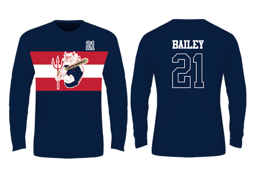 Devil Dawgs Long Sleeve T - Sublimated Navy
