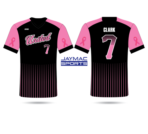2020 SC United Fully Sublimated Black and Pink Jersey