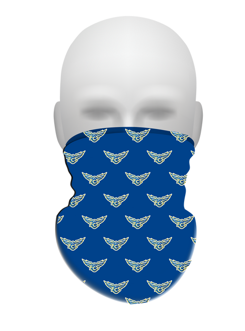 FCS Neck Gaiter with Tiled Logo Pattern