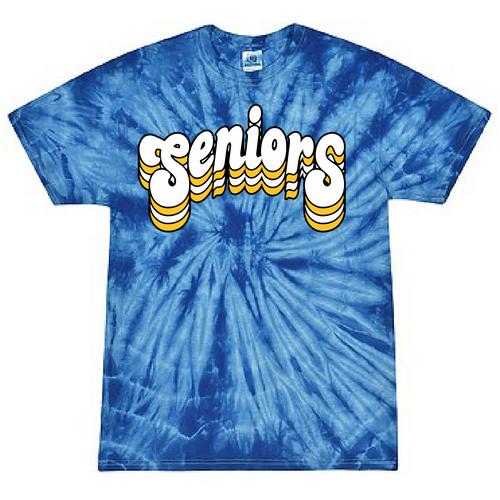 FCS Class of 2021 - Senior Class T Shirt - Tie Dye - Retro Friends Design