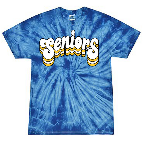 FCS Class of 2021 - Senior Class T Shirt - Tie Dye - Retro Friends Design