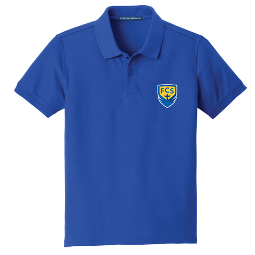 FCS Academic Logo Youth Polo - Embroidered
