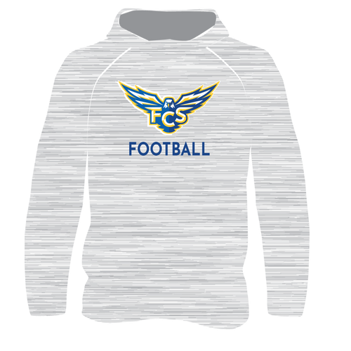 FCS T-Shirt Hoodie - Gray Heather Athletic Design