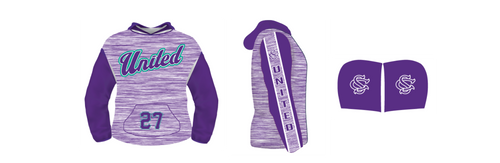 SC United Purple Heather Hoodie--Fully lined