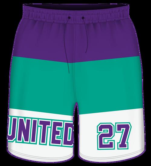 SC United Sublimated Shorts - Striped