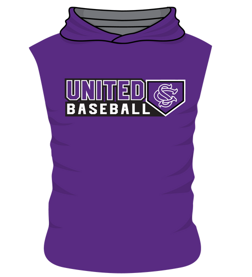 SC United Sleeveless Hoodie - Body Flex  - United Baseball Home Plate Design