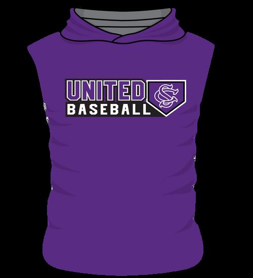 SC United Sleeveless Hoodie - Body Flex  - United Baseball Home Plate Design