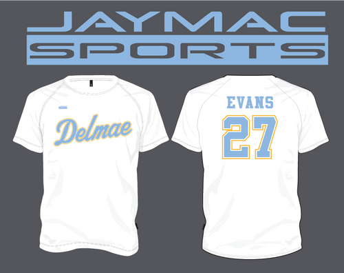 Delmae All Star Parent Shirt - Spot Sub White Crew Neck