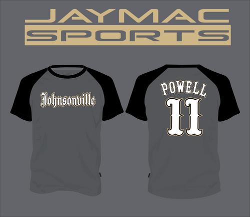 Johnsonville Baseball All Star Parent Shirt - Crew Neck Graphite