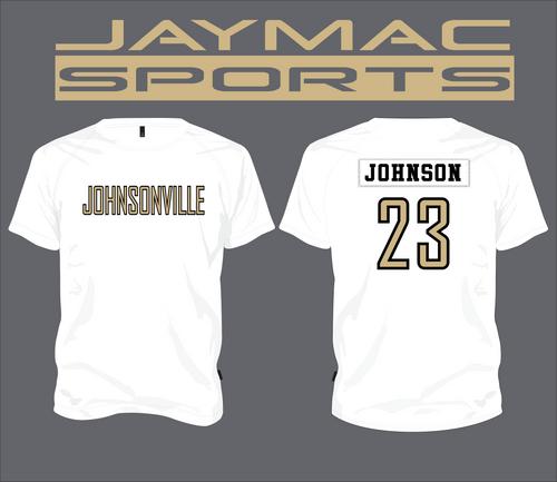 Johnsonville Softball All Star Parent Shirt - Spot Sub White Crew Neck