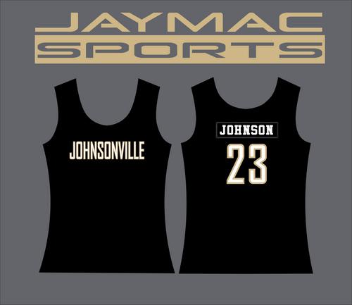 Johnsonville Softball All Star Parent Shirt - Tank Top Black