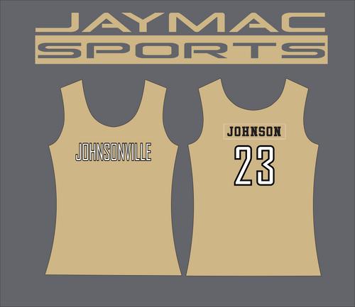 Johnsonville Softball All Star Parent Shirt - Tank Top Gold