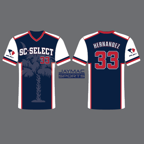 SC Select Baseball Jersey - Navy Palmetto Design