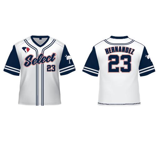 SC Select Baseball Jersey - White Jersey
