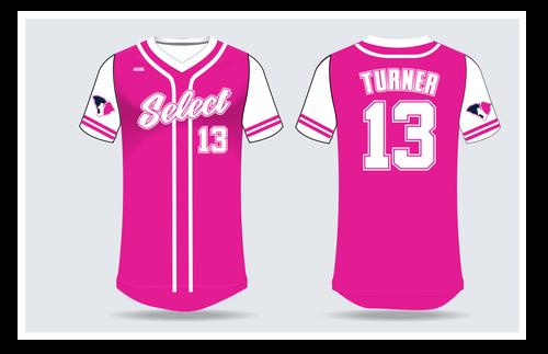 SC Select Baseball Jersey - Pink Design
