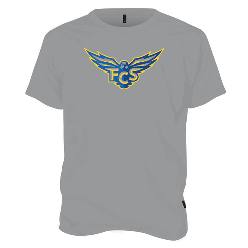 FCS Dry Fit T Shirt - Gray with Athletic Logo