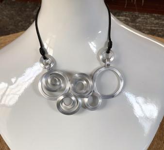 Crop Circle Aluminum Necklace