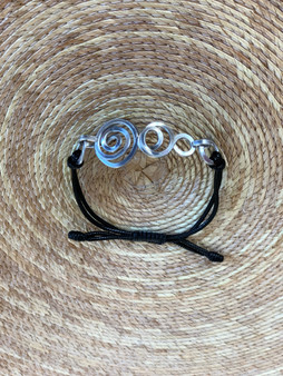 Crop Circle Aluminum Bracelet